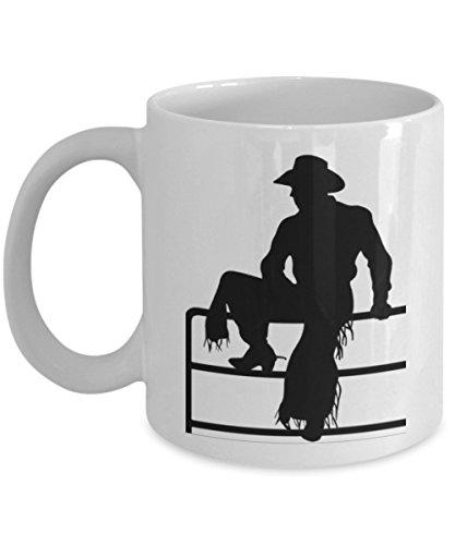 Cowboy Mug - Novelty Western Mug - Cowboy silhouette Coffee Mug - Rodeo Gift - Western Gift
