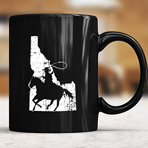 Idaho Cowboy  Boise Horse  Potato  Mug  Gift Idea - Cowboy Coffee Mug 11oz Gift Black Tea Cups