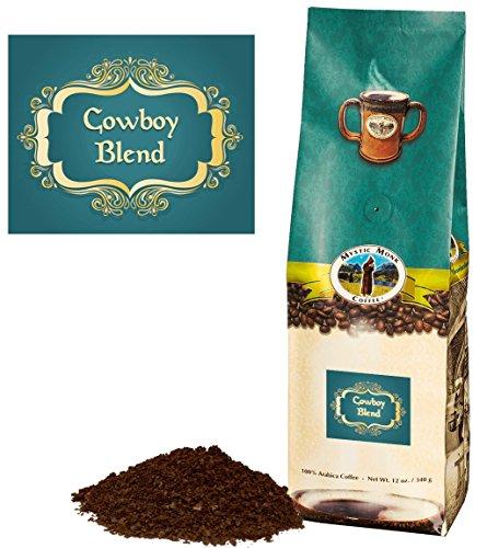 Mystic Monk Coffee Cowboy Blend Blend  Ground Dark Roast Coffee Ground Coffee 100 Arabica - 12oz