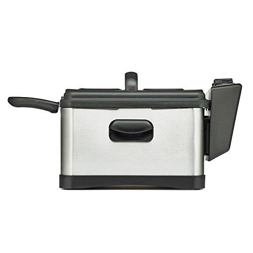 BELLA 14406 Three-Basket Electric Deep Fryer 45 L Stainless SteelBlack