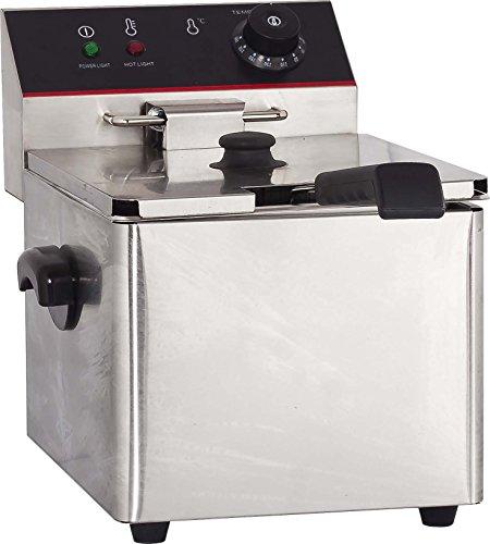 Hakka 4L Commercial Stainless Steel Deep Fryers Electric Professional Restaurant Grade Turkey Fryers TEF-4L