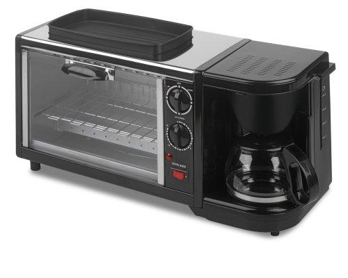 Kalorik Breakfast Set 3-In-1 Coffee MakerOvenGriddle StainlessBlack