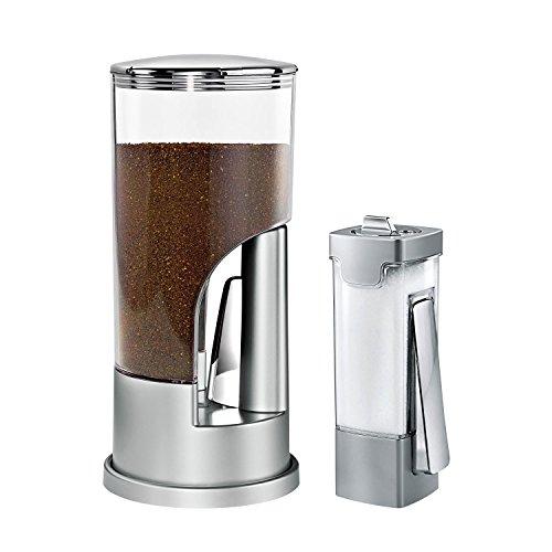 ZevrO KCHX06082 Coffee Dispenser Sugar Dispenser Set Silver