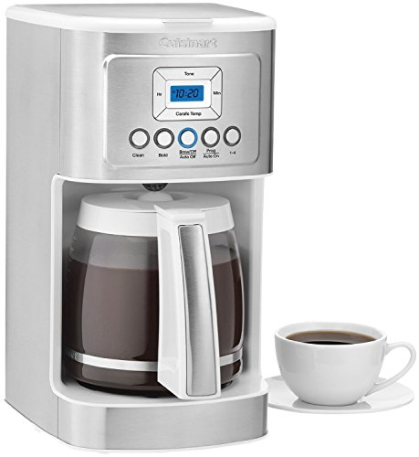 Cuisinart DCC-3200 14-Cup Glass Carafe with Stainless Steel Handle Programmable Coffeemaker White