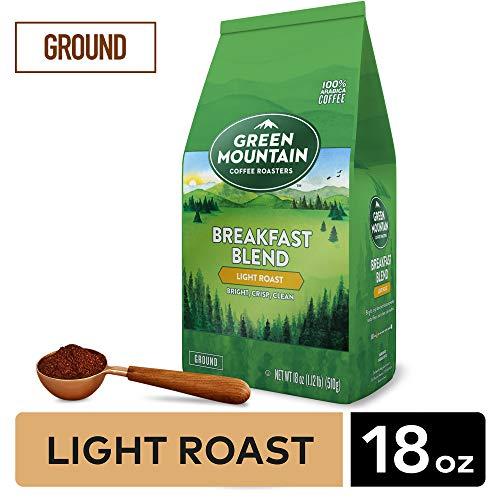 GMCR7 Green Mountain Coffee Roasters Breakfast Blend Ground Coffee Light Roast 18 oz