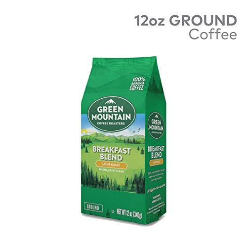 Green Mountain Coffee Roasters Breakfast Blend 12 oz Ground Bag Light Roast Coffee 3 Bags
