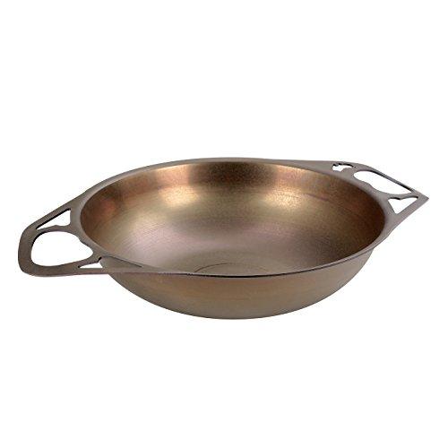 AUS-ION SATIN Wok 12 30cm 100 Made in Sydney 2mm Australian Iron Professional Grade Cookware