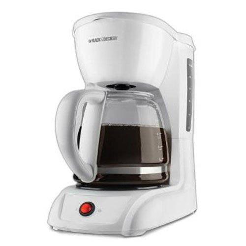 Black Decker CM1200W 12-Cup Switch Coffeemaker White