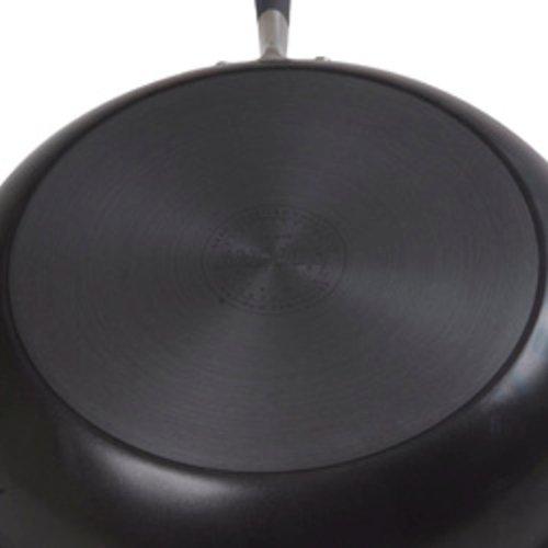 Anolon 81887 Advanced Hard Anodized Nonstick Saute Fry Pan with Helper Handle 5 Quart Gray