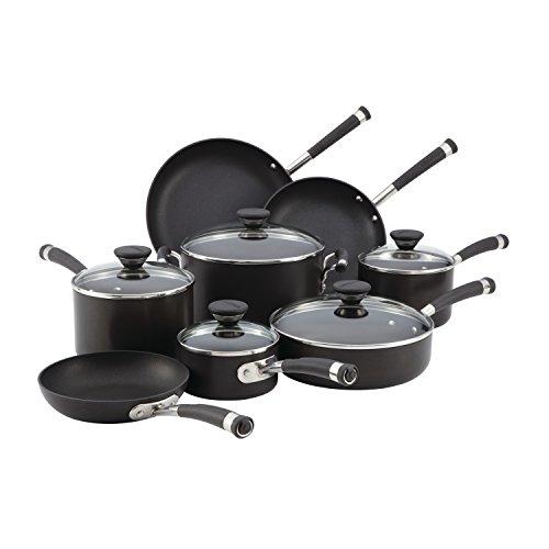 Circulon 83465 Acclaim Hard Anodized Nonstick Cookware Pots and Pans Set 13 Piece Black