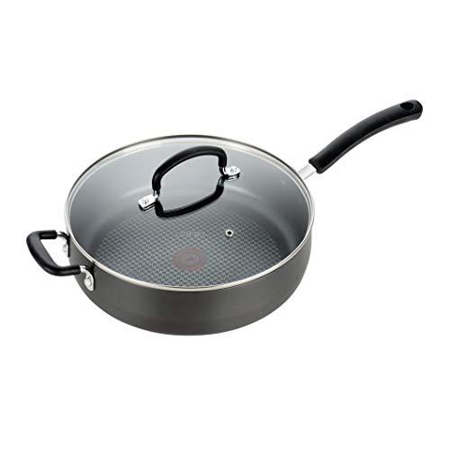 T-fal Ultimate Hard Anodized Nonstick 5 Qt Jumbo Cooker Black E76582 5 Quart Grey