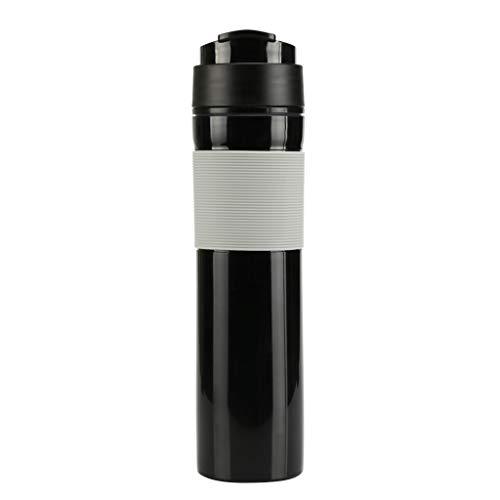 Coffee Maker3 Set Portable Travel French Press Coffee Mug and Tea Black Red for Couple