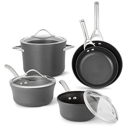 Calphalon Contemporary Hard-Anodized Aluminum Nonstick Cookware Set 8-Piece Black