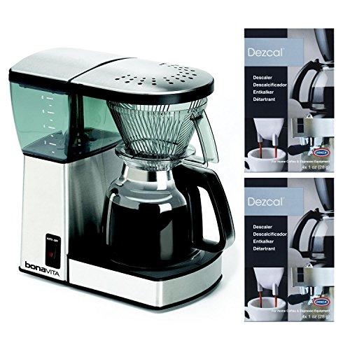 Bonavita BV1800 8 Cup Coffee Maker With Glass Carafe Bundle
