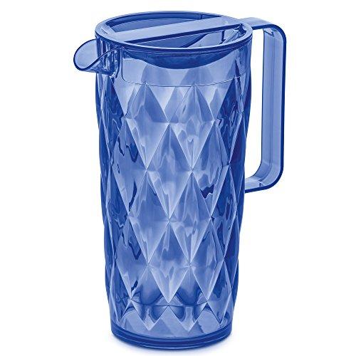 koziol CRYSTAL 20 Juice Pitcher 16 l  54 floz transparent blue