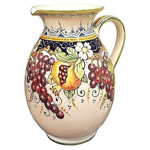 CERAMICHE DARTE PARRINI - Italian Ceramic Art Pottery Vase Jar Vessel Pitcher Vino Vine Hand Painted Made in ITALY Tuscan