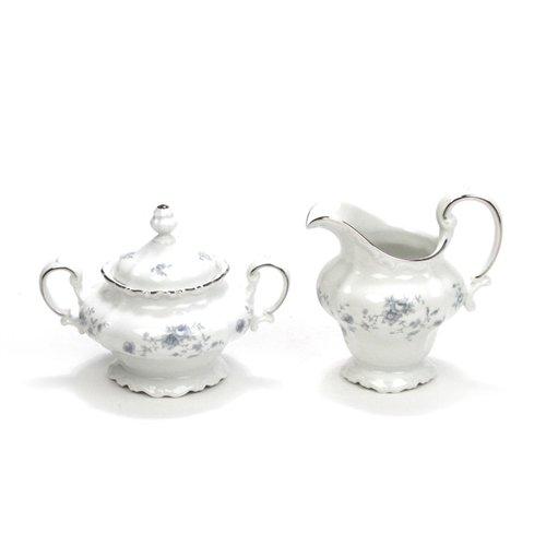 Blue Garland by Johann Haviland China Cream Pitcher Sugar Bowl