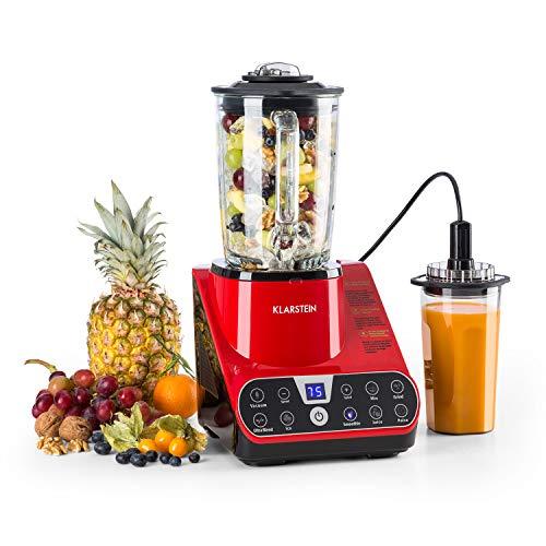 Klarstein Airakles Vacuum Blender • Blender • 800W • 26000 RPM • 15 Liter Glass Jug• Vacuum Function • 7 Programs • 6 Power Levels • Pulse • Stainless Steel Mechanism • 6 Blades • Red