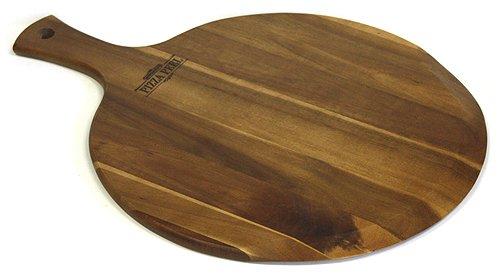 Mountain Woods Gourmet Acacia Hardwood Pizza PeelCutting BoardServing Tray Large