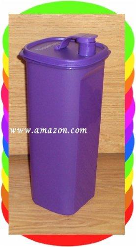 Tupperware Slim Square 2 Quart Pitcher NEW Purple Rare