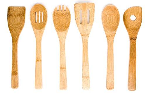 Axis International 6 Piece Bamboo Kitchen Tool Set Brown