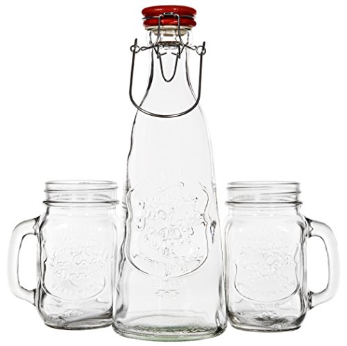 3 Piece Mason Jar Pitcher Set