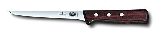 Victorinox 6 Inch Straight Rosewood Boning Knife with Stiff Blade