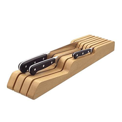 In drawer knife block,ashwoodbeech in drawer knife block ,Without Knives ,7-Slot In-Drawer Cutlery Tray,Fits long and short knives,Knife organizerKnife holder,Storage Tray Beech