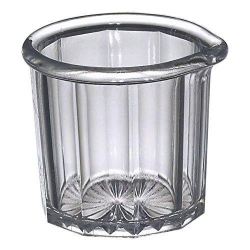 Gessner 1500 CLEAR SAN Plastic 2 Oz Creamer  Syrup Pitcher - Dozen