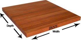 John Boos American Cherry 3 Thick Butcher Block Countertop 121W x 30D