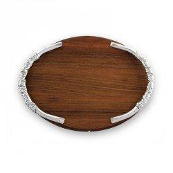 Beatriz Ball Large Soho Galena Oval Cutting Board Metallic