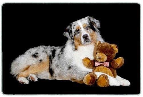 Canine Designs Australian Shepherd Tempered Glass Cutting Board - Small