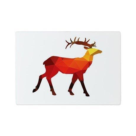 Deer Small Glass Cutting Board - 1125 x 8