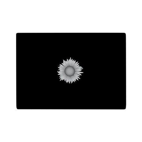 Sunflower Black White Small Glass Cutting Board - 1125 x 8