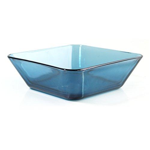 Mainstays Home Blue Glass 65 Inch Coastal Square Bowl Set of 6
