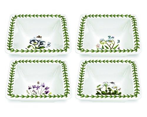 Portmeirion Botanic Garden Square Bowl Mini Set of 4