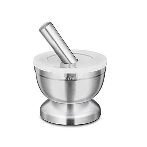 MDBYMX mortar Stainless steel mortar and pestle sets tool grinder for grinding garlic ginger herbs spices or coffee beans Mortar and pestle settings Size  Large