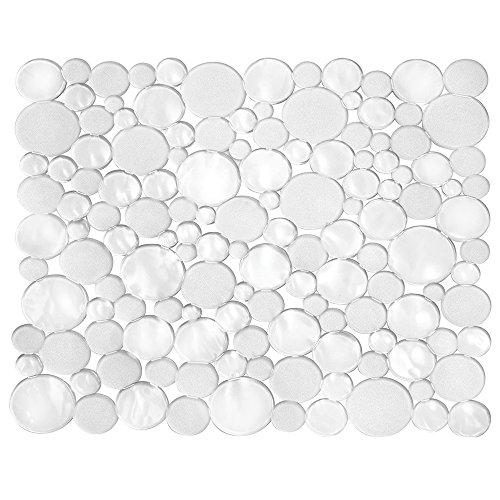 InterDesign Bubbli Kitchen Sink Protector Mat Regular Clear