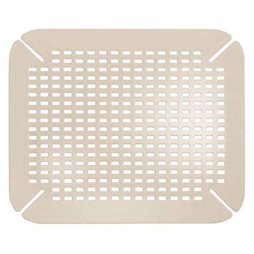 InterDesign Contour Kitchen Sink Protector Mat Taupe