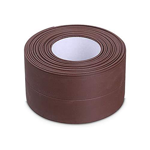 Leepesx Self-Adhesive Caulk Strip Moisture-Proof Anti-Mold Waterproof Caulking Tape for Kitchen Countertop Bathroom Floor Wall Sink Basin Gas Stove Edge Protector Sealing Strip