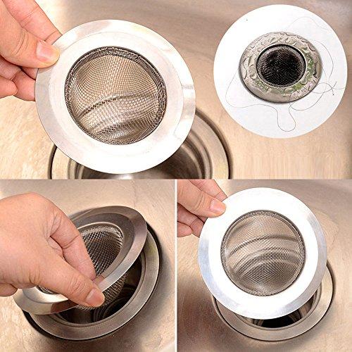 SRTEC Home Kitchen Sink Drain Strainer Stainless Steel Mesh Basket Strainer