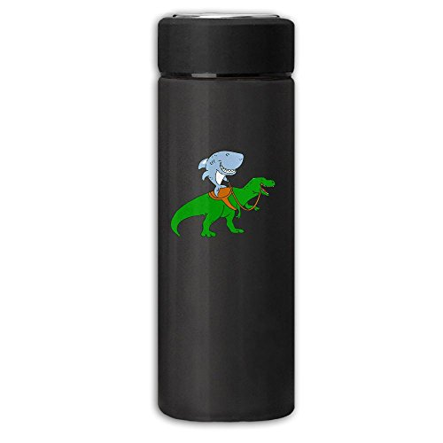 Great White Shark Riding A T Rex Vacuum Cup Stainless Steel Dull Polish Travel Mug With Tea Leaf FilterBusiness Beverage Bottle