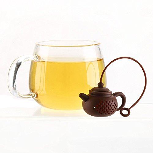 LEASEN Silicone Tea Leaf Filter Tea Infuser Tea Strainer-Mini Teapot Shaped Tea Filter