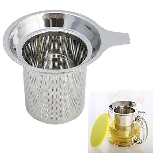 LFOEwpp7 Tea Filters Stainless Steel Mesh Tea Infuser Cup Strainer Loose Tea Leaf Filter Sieve