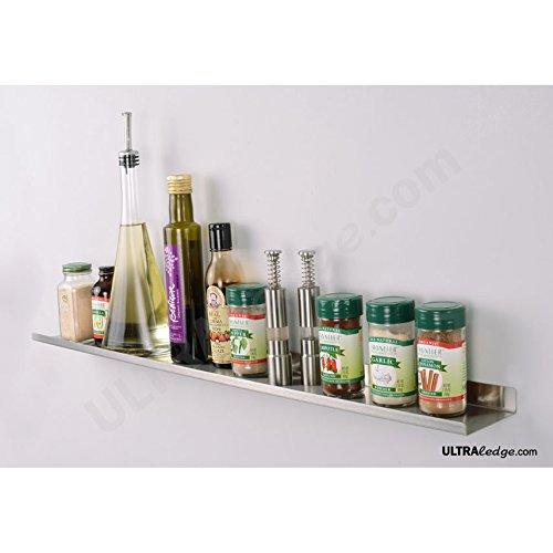 36 Over-the-Range ULTRAledge Display  Shelf  Ledge  Spice Rack 35 deep Stainless Steel