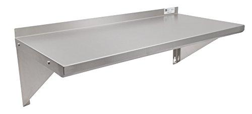 John Boos EWS8-1648 Stainless Steel Standard Wall Shelf 48 Length 16 Width