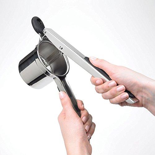 Clubdeer Manual Good Grips Stainless Steel Garlic Juice press Potato Ricer Baby Food Strainer Spaetzli Gnocchi Ricers
