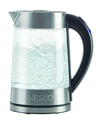 Nesco GWK-02 Electric Glass Water Kettle 18 Quart Gray