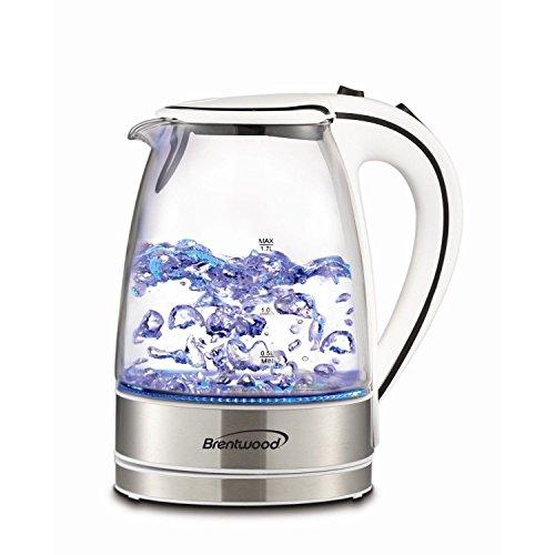 Brentwood Appliances Kt-1900w Tempered Glass Tea Kettles 17-liter White