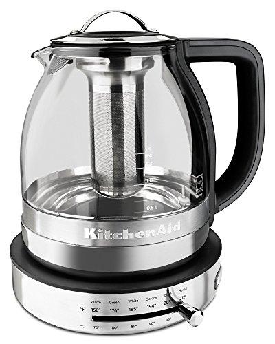 KitchenAid KEK1322SS 15L Electric Glass Tea Kettle - Stainless Steel